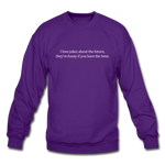 Future Jokes Crewneck Sweatshirt - purple