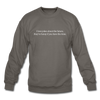 Future Jokes Crewneck Sweatshirt - asphalt gray