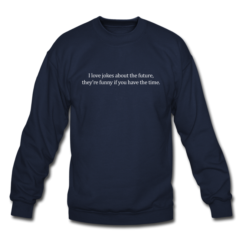 Future Jokes Crewneck Sweatshirt - navy