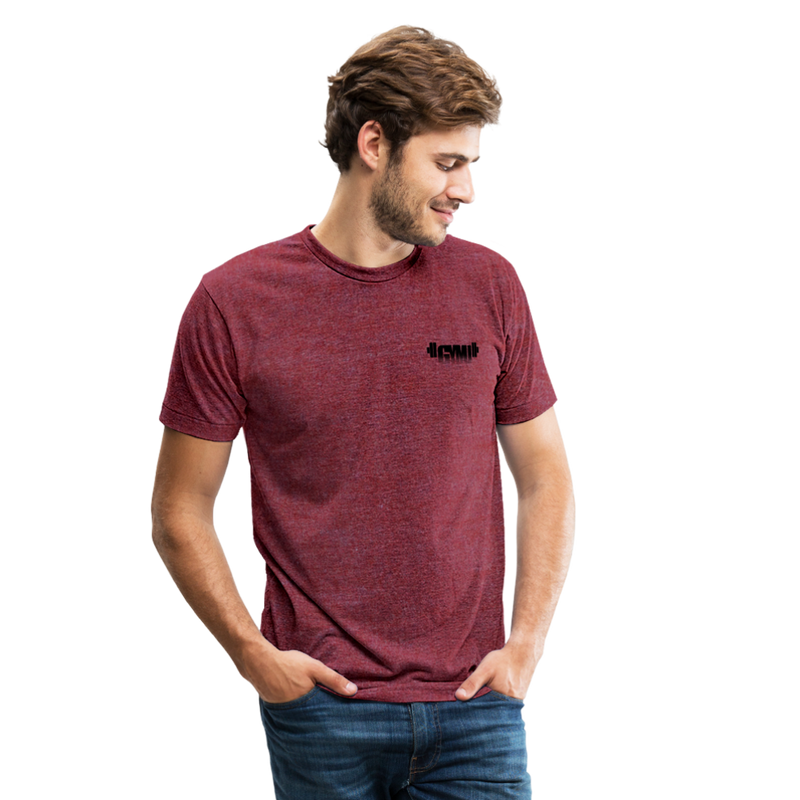 GYMU Unisex Tri-Blend T-Shirt - heather cranberry
