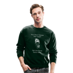 Who's Chef Flock Crewneck Sweatshirt - forest green
