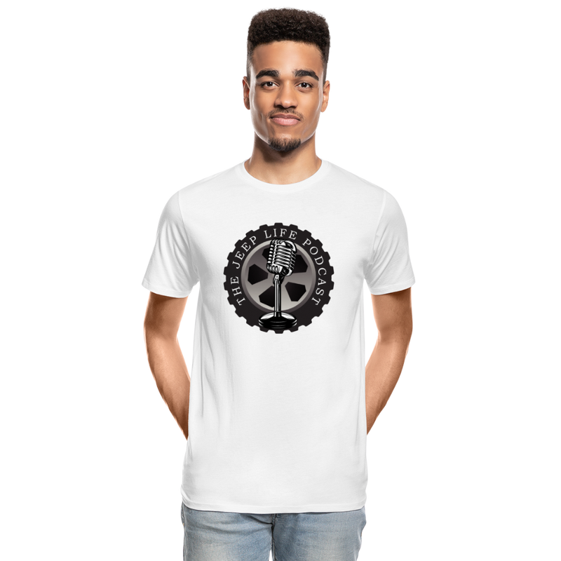 The Jeep Life Podcast Men's Premium Organic T-Shirt - white