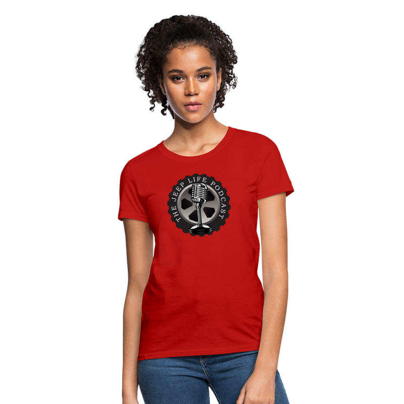 The Jeep Life Podcast Women's T-Shirt - red