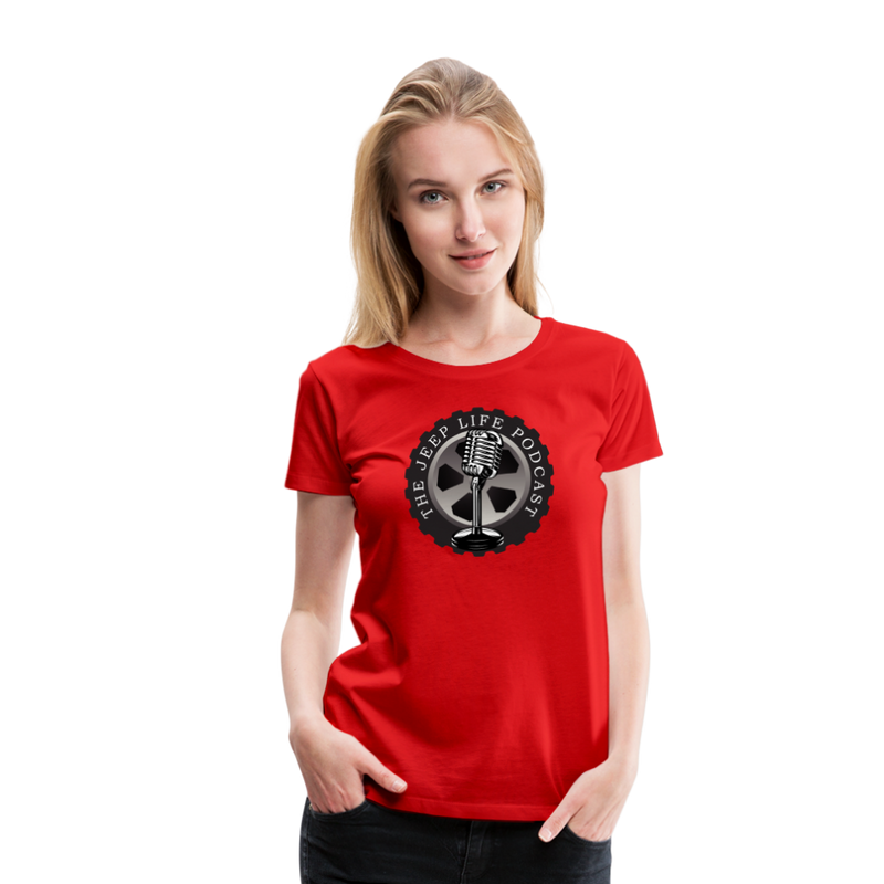The Jeep Life Podcast Women's Premium T-Shirt - red