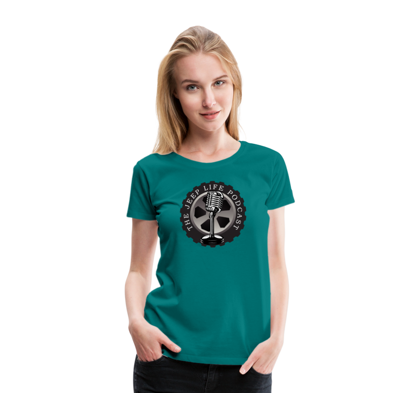 The Jeep Life Podcast Women's Premium T-Shirt - teal