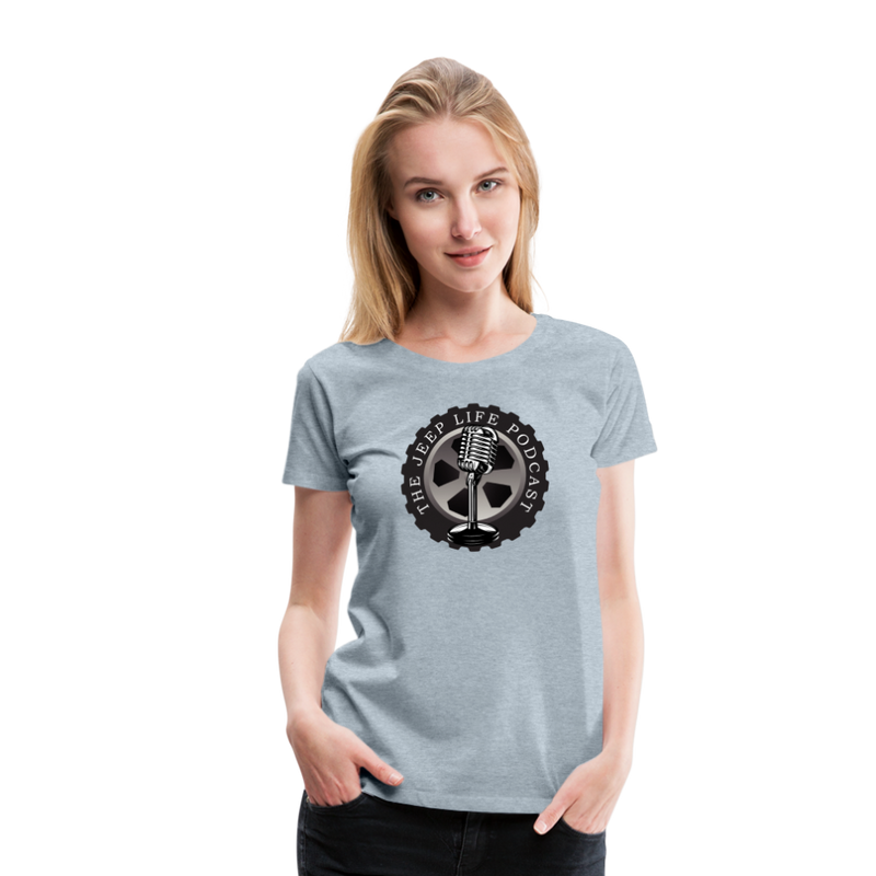 The Jeep Life Podcast Women's Premium T-Shirt - heather ice blue