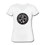 The Jeep Life Podcast Women's V-Neck T-Shirt - white