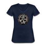 The Jeep Life Podcast Women's V-Neck T-Shirt - navy
