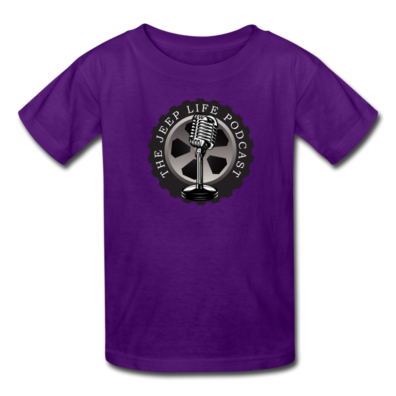 The Jeep Life Podcast Kids' T-Shirt - purple