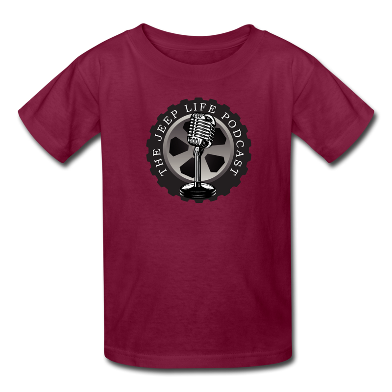 The Jeep Life Podcast Kids' T-Shirt - burgundy