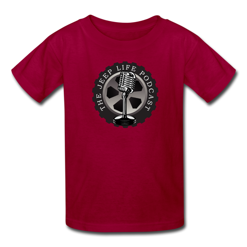 The Jeep Life Podcast Kids' T-Shirt - dark red