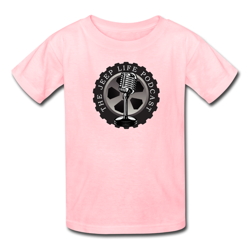 The Jeep Life Podcast Kids' T-Shirt - pink