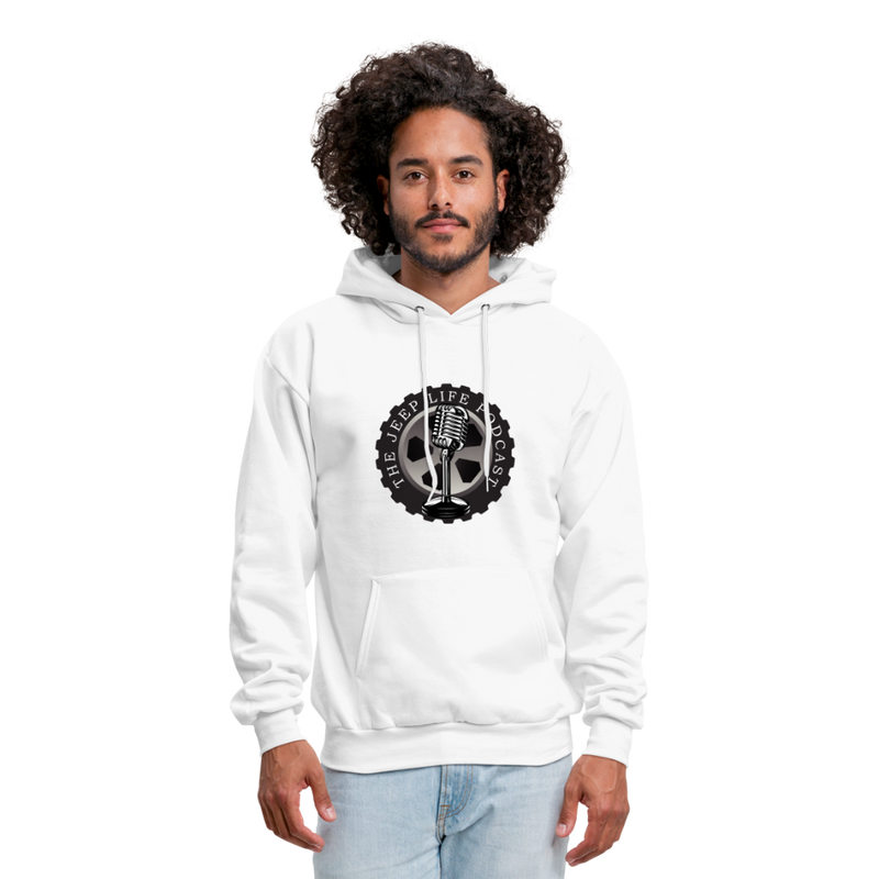 The Jeep Life Podcast Men's Hoodie - white