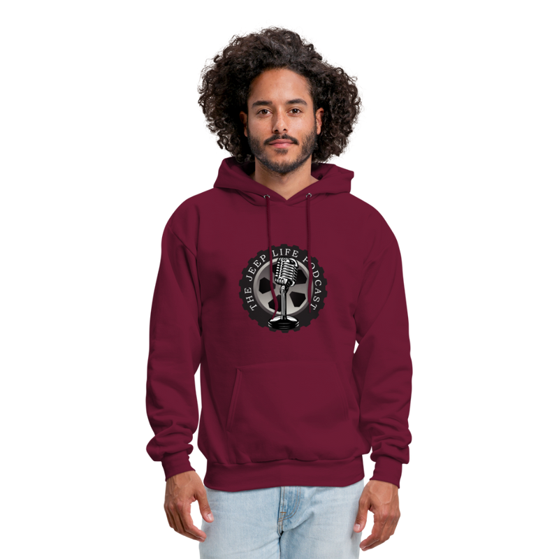 The Jeep Life Podcast Men's Hoodie - burgundy