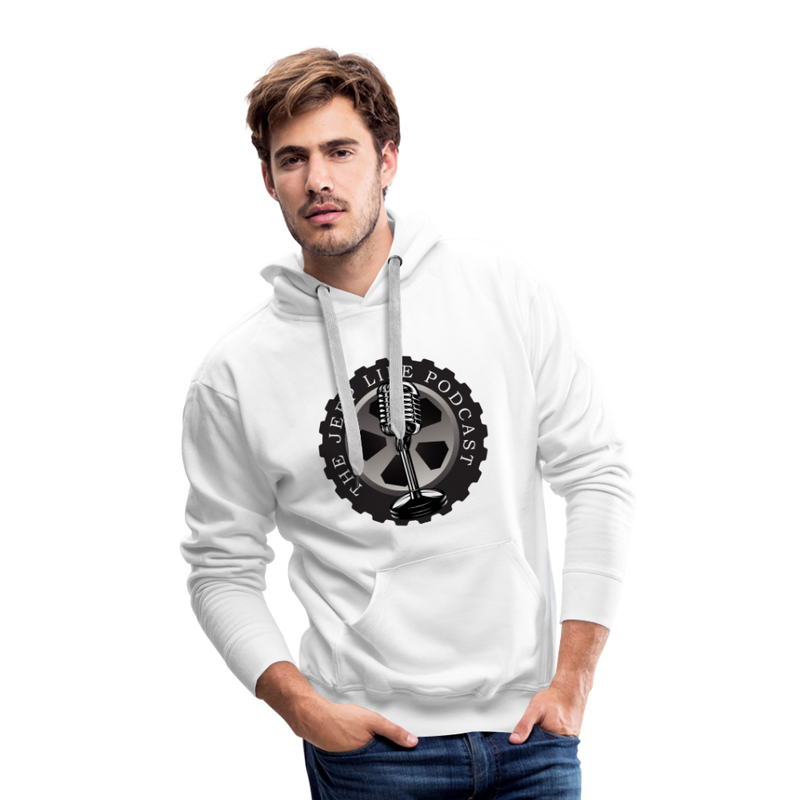The Jeep Life Podcast Men's Premium Hoodie - white