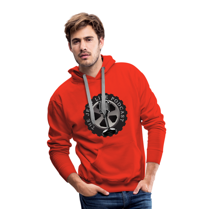 The Jeep Life Podcast Men's Premium Hoodie - red