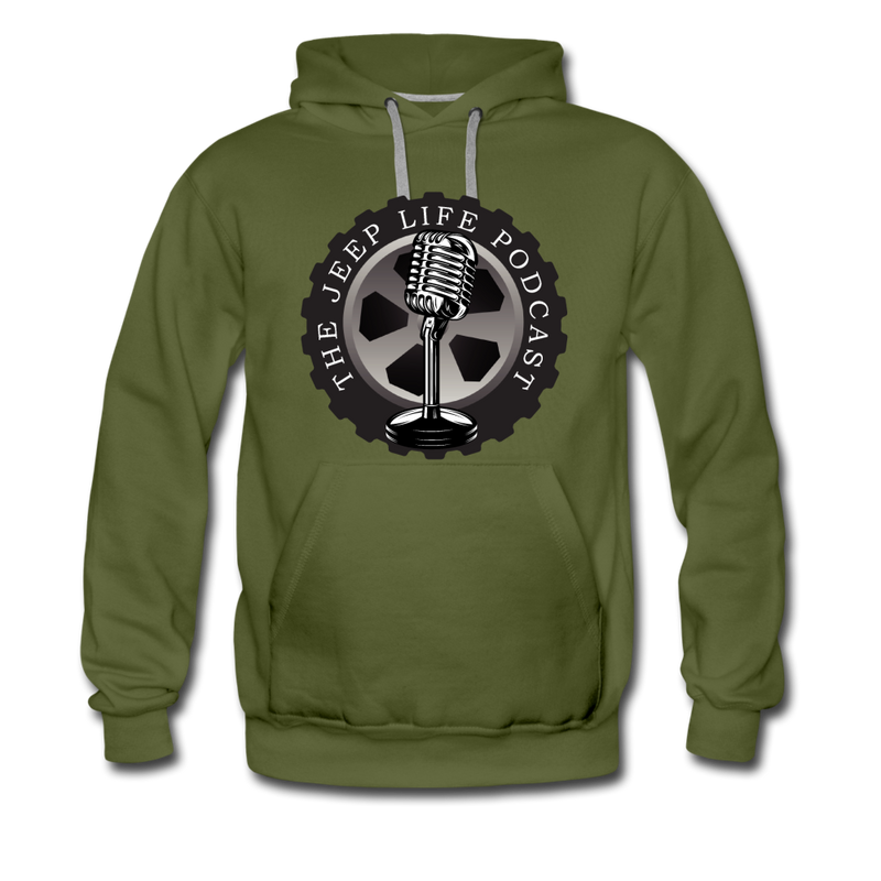 The Jeep Life Podcast Men's Premium Hoodie - olive green