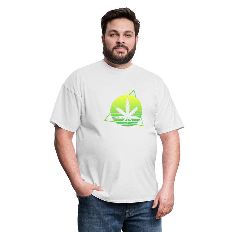 Green Weed Unisex Classic Tee - white