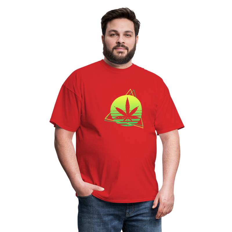 Green Weed Unisex Classic Tee - red