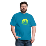 Green Weed Unisex Classic Tee - turquoise