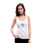 Weed 420 Women's Premium Tank Top - white