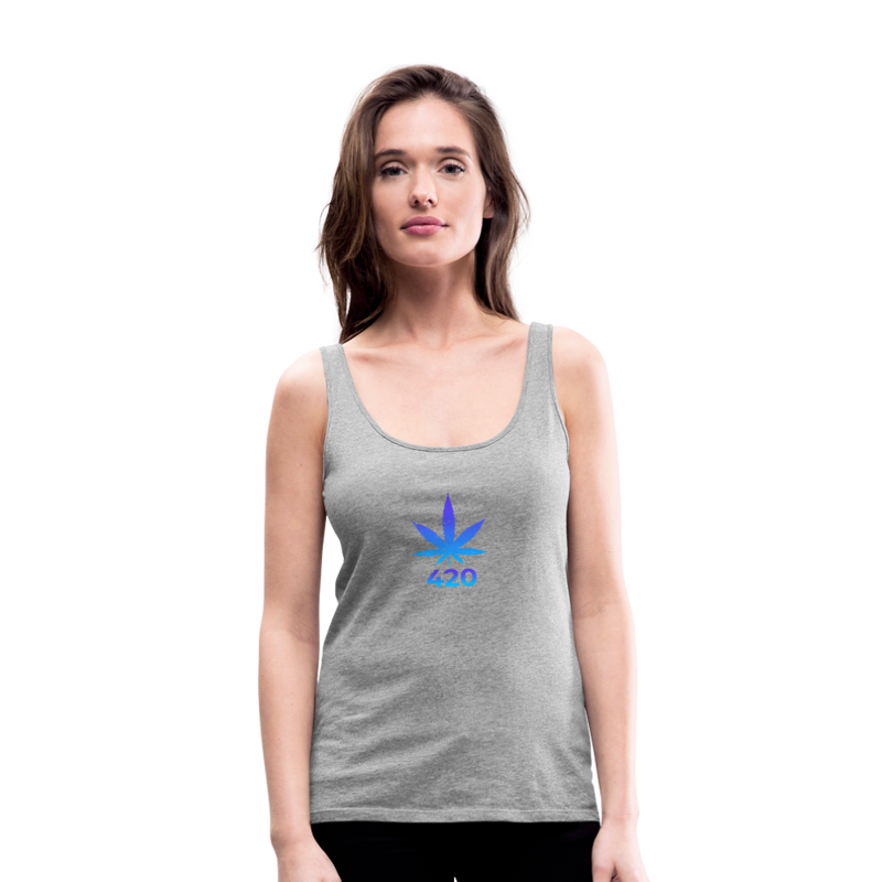 Weed 420 Women's Premium Tank Top - heather gray