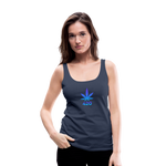 Weed 420 Women's Premium Tank Top - navy