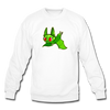 Pompadorable: Art by Ally Cat - Green Batty Crewneck Sweatshirt - white