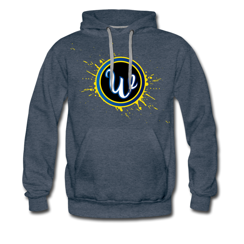 Wiffd Men's Premium Hoodie - heather denim