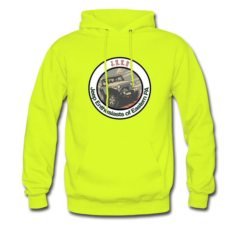 J.E.E.P. Men's Hoodie - safety green