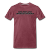 Block Premium T-Shirt - heather burgundy