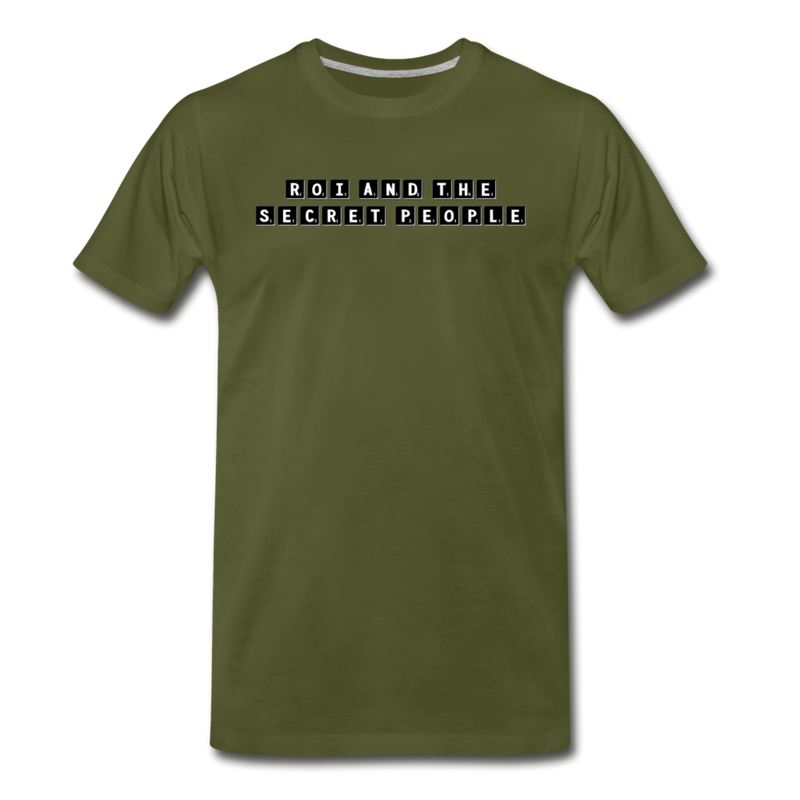 Block Premium T-Shirt - olive green