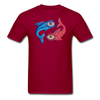 Pisces T-Shirt - dark red