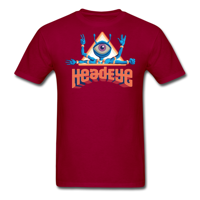 HeadEye Peace T-Shirt - dark red