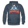 HeadEye Peace Premium Hoodie - heather denim