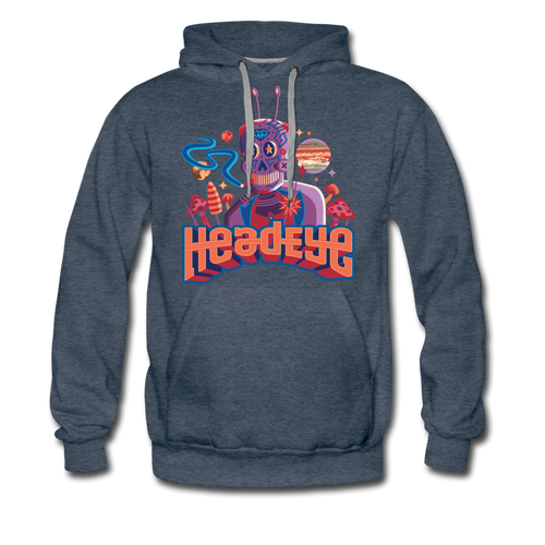 Robot Premium Hoodie - heather denim