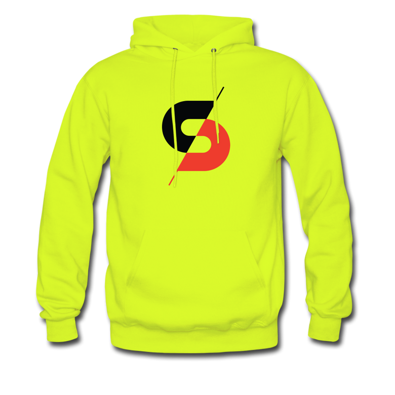 Men's Hoodie (Style B) - safety green