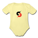 Short Sleeve Baby Bodysuit - washed yellow