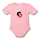 Short Sleeve Baby Bodysuit - light pink