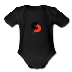 Short Sleeve Baby Bodysuit - black