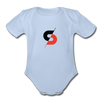 Short Sleeve Baby Bodysuit - sky