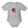 Short Sleeve Baby Bodysuit - heather gray
