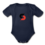 Short Sleeve Baby Bodysuit - dark navy