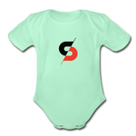 Short Sleeve Baby Bodysuit - light mint