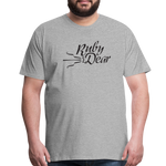 Ruby Deer Men's T-Shirt - heather gray