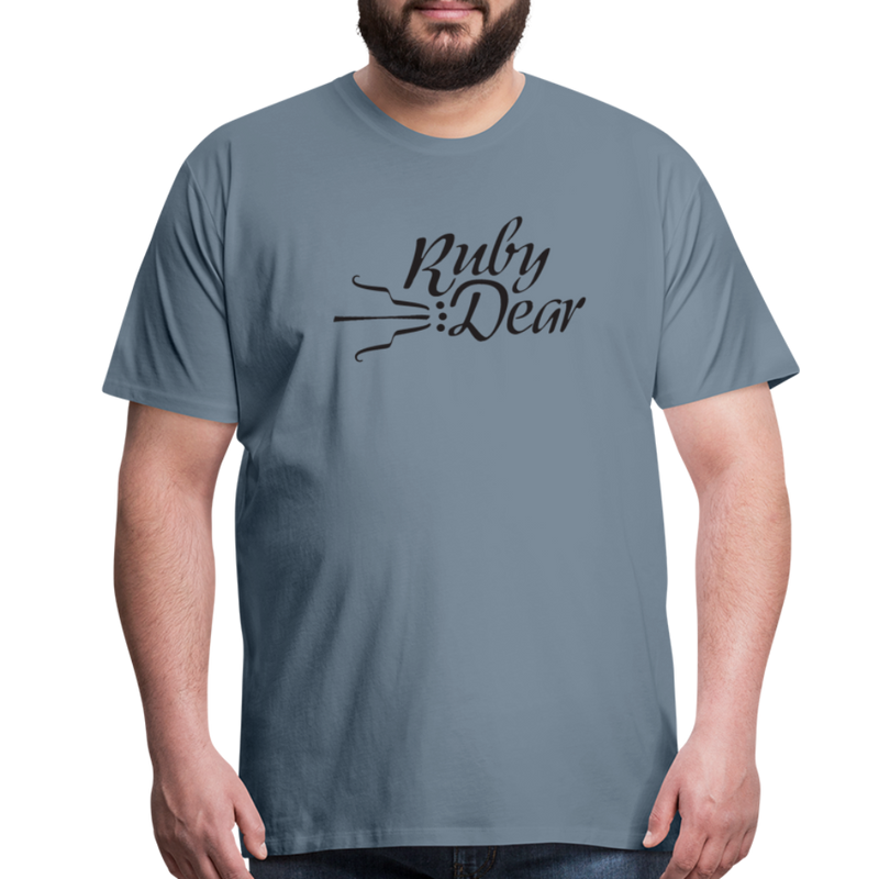 Ruby Deer Men's T-Shirt - steel blue