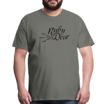 Ruby Deer Men's T-Shirt - asphalt gray