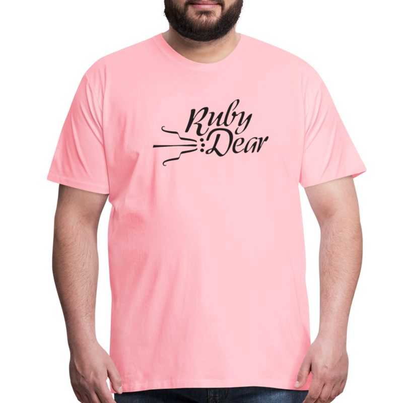 Ruby Deer Men's T-Shirt - pink