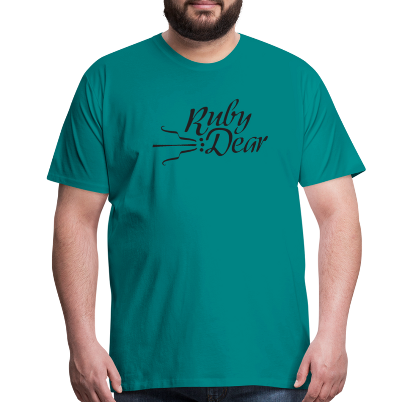 Ruby Deer Men's T-Shirt - teal