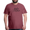 Ruby Deer Men's T-Shirt - heather burgundy